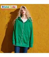 ガーベラレディース ゆったり ストリートファッション ショート丈 ジップアップパーカー 長袖 yj6347-2