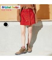 ガーベラレディース Aライン ダブルボタン スエード ラップスカート ミニスカート yj6378-2