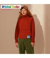 ガーベラレディース ゆったり タートルネック レトロ ニットウェア セーター 長袖 yj6529-2