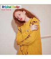 ガーベラレディース ゆったり 刺繍 純綿 シャツ チュニック 長袖 yj6533-2