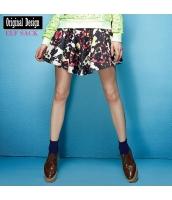 ガーベラレディース キュロットスカート ミニスカート ショートパンツ・ホットパンツ 花柄 yj6715-1
