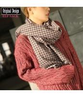 ガーベラレディース ファッション小物 レディースマフラー チェック柄 暖かい yj6733-1