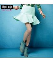 ガーベラレディース ペプラムスカート ミニスカート 着やせ yj6736-1