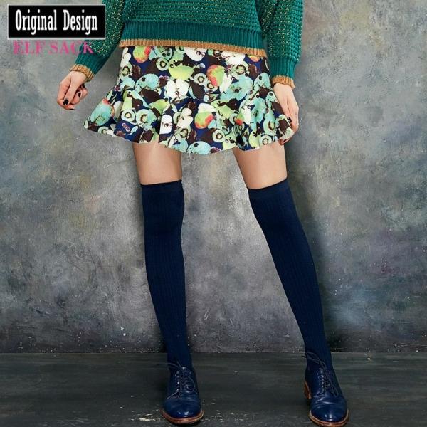 ガーベラレディース ペプラムスカート ミニスカート 花柄 yj6742-2