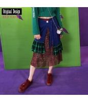 ガーベラレディース ミニスカート イレギュラー裾 yj6783-1