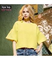 ガーベラレディース ニットウェア セーター 半袖 かわいい yj7802-2