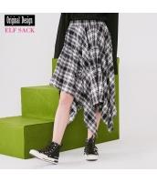 ガーベラレディース ラップスカート 膝丈スカート 純綿100%コットン イレギュラー裾 春物 yj8294-1