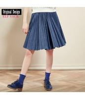 ガーベラレディース デニムスカート プリーツスカート 膝丈スカート 欧米風 夏物 yj8333-1