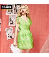 ガーベラレディース ミニワンピース 袖なし フレアワンピース ストリートファッション 欧米風 夏物 yj8336-2