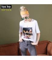 ガーベラレディース Tシャツ カットソー 長袖 純綿100%コットン ゆったり 春物 yj8460-2