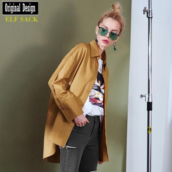 ガーベラレディース シャツ 半袖 ハイロー裾 純綿100%コットン 春物 yj8517-1