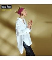ガーベラレディース シャツ 半袖 ハイロー裾 純綿100%コットン 春物 yj8517-2