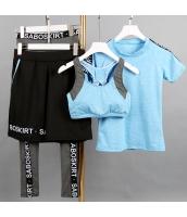 ヨガ フィットネス トレーニング Tシャツ+タンクトップ+長ズボン+ショートパンツ4点セット アンサンブル スポーツウェア ピラティス ジム ダンス ランニング シェイプアップ ダイエット yjk7609-3
