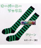 ソックス 靴下 ニーソックス ハイソックス ゴスロリ ロリータ ボーダー 普段使い&コスプレに最適 hw0111-17