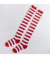 【即納】ソックス 靴下 ニーソックス ハイソックス ゴスロリ ロリータ ボーダー 普段使い&コスプレに最適 tk-hw0111-18-wgf【カラー:太ボーダー】【サイズ:フリー】