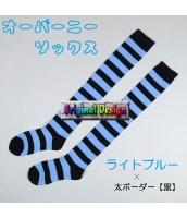 ソックス 靴下 ニーソックス ハイソックス ゴスロリ ロリータ ボーダー 普段使い&コスプレに最適 hw0111-5