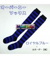 ソックス 靴下 ニーソックス ハイソックス ゴスロリ ロリータ ボーダー 普段使い&コスプレに最適 hw0111-8