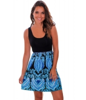 アクア プリント ショート ドレス lc220062-109