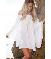 ホワイト エーテル シフォン ミニ ドレス      CC22010-1