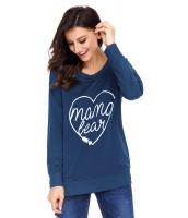 ママベア スウェットシャツ ブルー cc250523-5