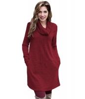 ブルゴーニュ カウルネック スウェットシャツ ドレス cc250574-3