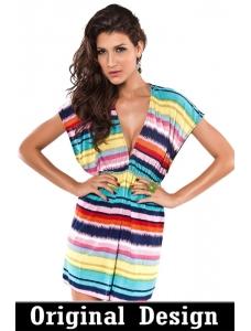 【即納】パレオ | 水着付属品 | レインボーパレオビーチドレス-tkm-cc40426【カラー:虹色】【サイズ:フリー】