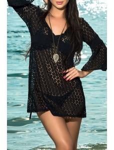ブラック サンバースト ビーチ ドレス cc41184-2