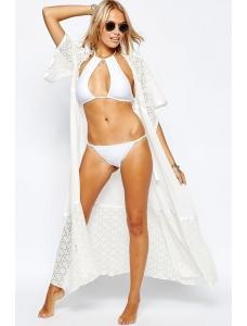 【即納】ホワイト レース シフォン パッチワーク ロング ビーチ ファッション tk-cc41522-1-f-wh【カラー:ホワイト】【サイズ:フリー】