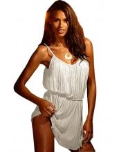 ホワイト ビンテージ ビーチ サンドレス cc42017-1