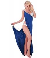 コバルトブルー ギリシア 女神 スパゲッティ ストラップ サロン ビーチファッション cc42179-5