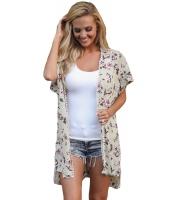 トリム 半袖 花柄 ビーチファッション lc42208-9