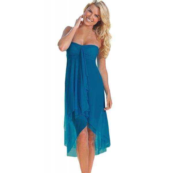 ブルー コンバーチブル ビーチドレス カバーアップ cc42229-5