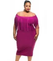 ローズ 半袖 フリンジ トップス 大きいサイズ ドレス cc61055-6
