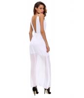ホワイト シークイン アクセント マキシ ドレス cc61075-1