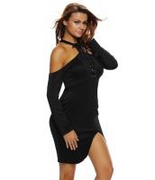 セクシー ブラック ミディ ドレス cc61208-2