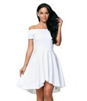 ホワイト スケータードレス cc61346-1