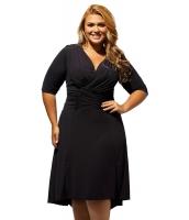 ブラック 曲線美 シャーリング 大きいサイズ ドレス cc61394-2