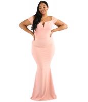 ピンク 大きいサイズ 袖 コラム ドレス lc61613-10