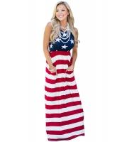 ラブリー アメリカ 国旗 マキシ ドレス lc61621-5
