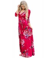 スカーレット 花柄 ラップ ロング ボヘミアン ドレス cc61631-103