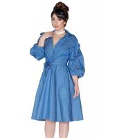 ブルー デニム ドリー ドレス cc61821-5