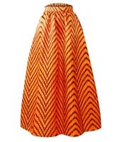 デラックス アフリカン プリント マキシ スカート cc65008-1