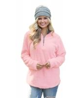 ピンク ジップアップ プルオーバー フリース 衣装 cc85082-10