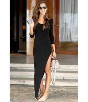 【即納】セクシーファッション マキシワンピース ロングドレス tk-yy51211-s-bk【カラー:ブラック】【サイズ:S】
